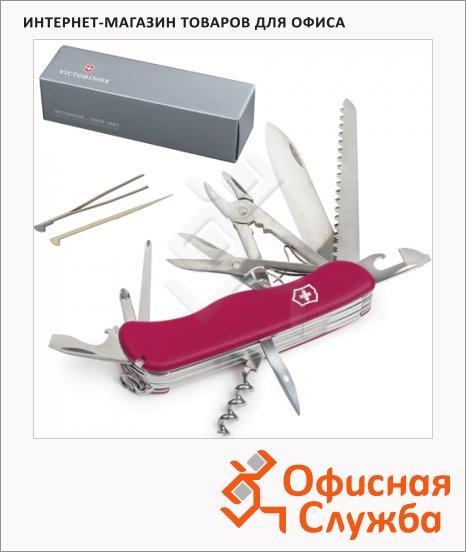 Нож солдатский 111мм Victorinox Hercules 0.9043, 18 функций, красный, с фиксатором
