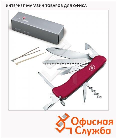 фото: Нож солдатский 111мм Victorinox Outrider 0.9023 14 функций, красный, с фиксатором