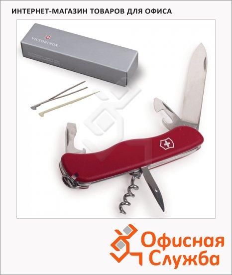 Нож солдатский 111мм Victorinox Picknicker 0.8853, 11 функций, 2 уровня, красный, с фиксатором