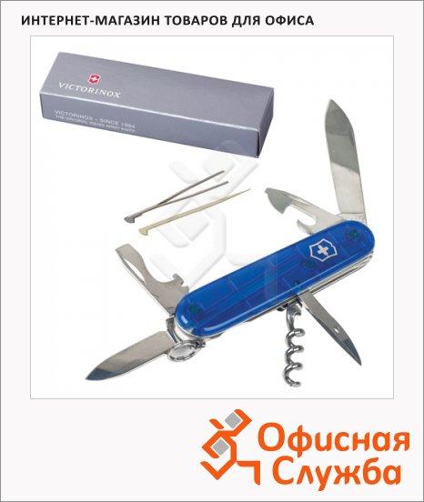 Нож солдатский 91мм Victorinox Spartan 1.3603.Т2, 12 функций, синий, с фиксатором