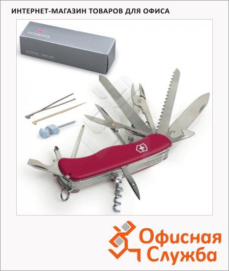 фото: Нож солдатский 111мм Victorinox Work champ 0.9064 21 функция, красный, с фиксатором