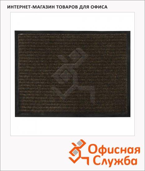 фото: Коврик придверный Vortex ворсовый 90х120см, коричневый