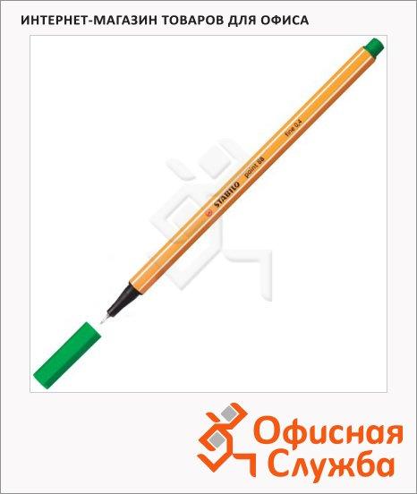 Ручка капиллярная Stabilo Point зеленая, 0.4мм, 88/36