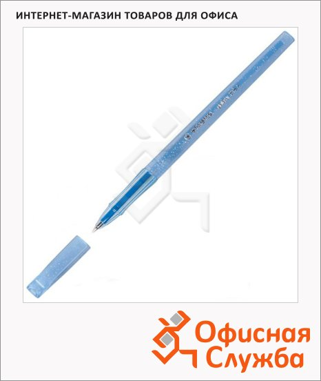 фото: Ручка шариковая Stabilo Galaxy 818F синяя 0.3мм, синий корпус