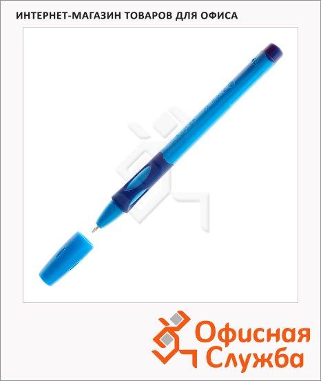 Ручка шариковая для левшей Stabilo LeftRight 6318 синяя, 0.4мм, синий корпус