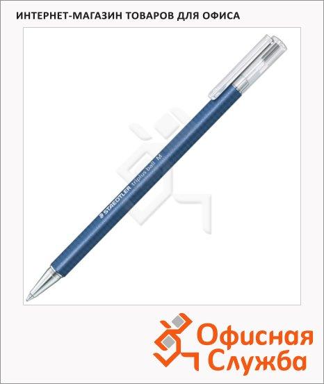 фото: Ручка шариковая автоматическая Staedtler Triplus Ball синяя 0.45мм