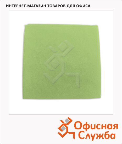 Салфетка хозяйственная Лайма замша зеленая, 30х30см, микрофибра