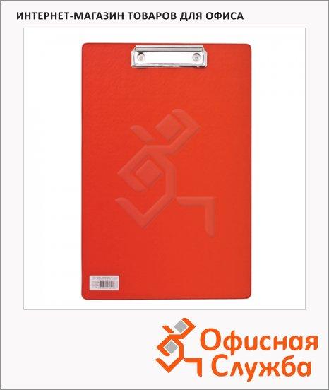 фото: Клипборд без крышки Brauberg Comfort красный А4, 222658