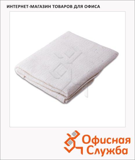Тряпка для мытья пола Лайма Премиум 60х75см, вискоза/ хлопок, белая