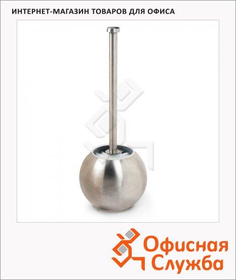 фото: Ершик для унитаза Лайма Modern с подставкой в форме шара матовый, d=14.5см, 36см