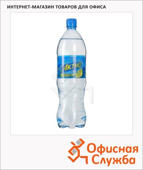 Вода питьевая Aqua Minerale Актив без газа, ПЭТ, лимон, 1.25л х 12шт