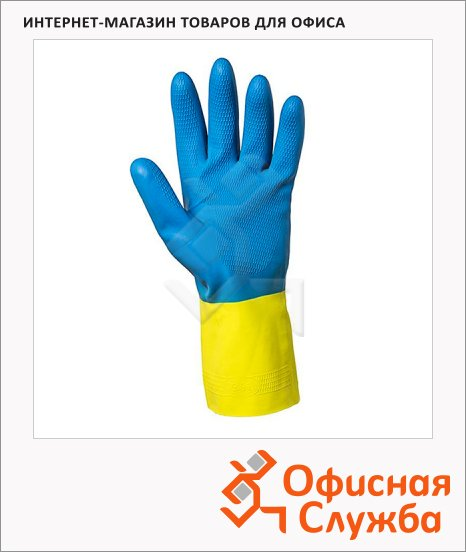 Перчатки защитные Kimberly-Clark Jackson Safety G80 38744, защита от химкатов, желт/син, XL