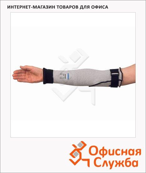фото: Антипорезные рукава Kimberly-Clark Jackson Safety G60 90075 с крючками и застежеками, серые, 12шт