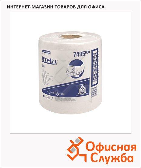 Протирочные салфетки Kimberly-Clark WypAll L10 7495, в рулоне с центральной вытяжкой, 525шт, 1 слой, белые