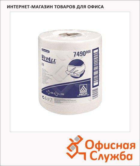 Протирочные салфетки Kimberly-Clark WypAll L10 7490, в рулоне с центральной вытяжкой, 630шт, 1 слой, белые