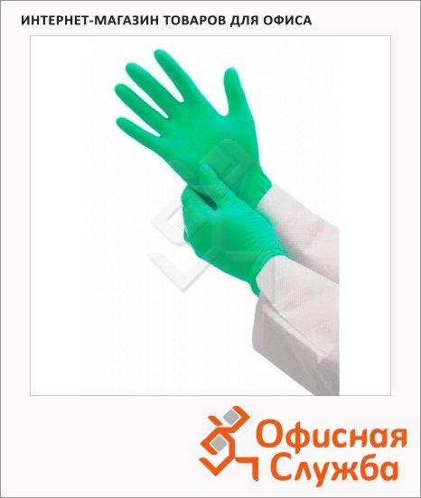 Перчатки защитные Kimberly-Clark Кleenguard G20 90091, нитриловые, зеленые, 125 пар, S