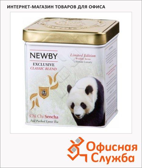 Чай Newby Wildlife Chi Chi Sencha (Чи Чи Синча), зеленый, листовой, 125 г, ж/б