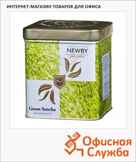 Чай Newby Safari Green Sencha (Грин сенча), зеленый, листовой, 125 г, ж/б
