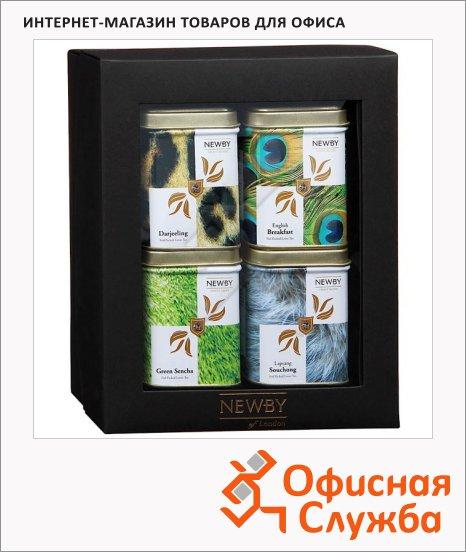 Набор чая Newby Safari №2, 4 сорта, листовой, 160г, ж/б