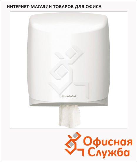 Диспенсер для протирочных материалов в рулонах Kimberly-Clark Aquarius 7018, с центральной вытяжкой, белый
