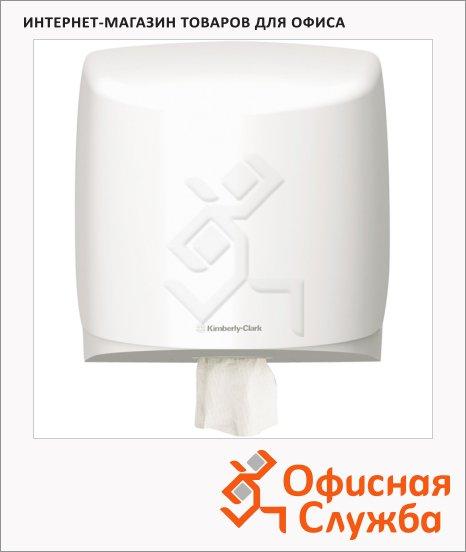 фото: Диспенсер для протирочных материалов в рулонах Kimberly-Clark Aquarius 7017 с центральной вытяжкой, белый