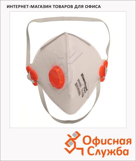 Респиратор Kimberly-Clark Kleenguard М30 62980, с клапаном, красный
