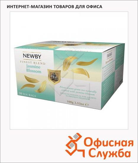 Чай Newby Jasmine Blossom (Жасмин блоссом), зеленый, 50 пакетиков