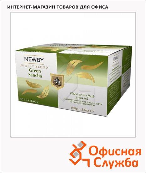 Чай Newby Green Sencha (Грин сенча), зеленый, 50 пакетиков