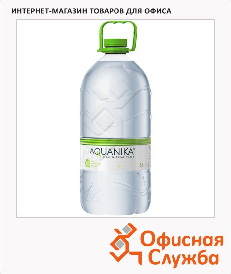 фото: Вода минеральная Aquanika без газа 5л, ПЭТ