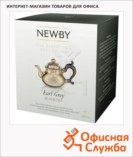 фото: Чай Newby Earl Grey (Эрл Грей) черный, в пирамидках, 15 пакетиков