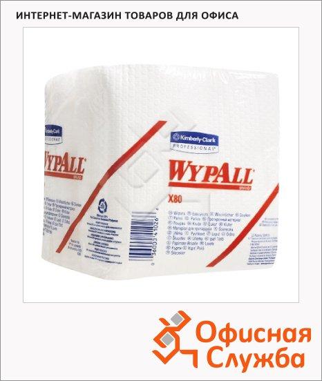 Протирочные салфетки Kimberly-Clark WypAll Х80 8388, листовые, 200шт, 1 слой, белые