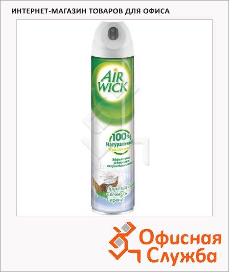 Освежитель воздуха аэрозоль Air Wick прохлада льна и свежесть сирени, 240мл