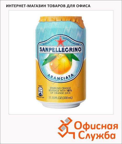 Напиток газированный Sanpellegrino апельсин, ж/б, 0.33л