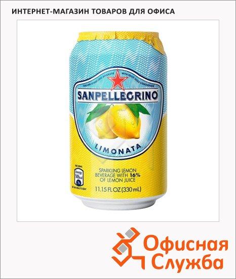 Напиток газированный Sanpellegrino лимон, ж/б, 0.33л