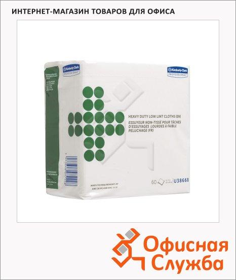 Протирочные салфетки Kimberly-Clark Wettask 38668, листовые, 60шт, 1 слой, белые