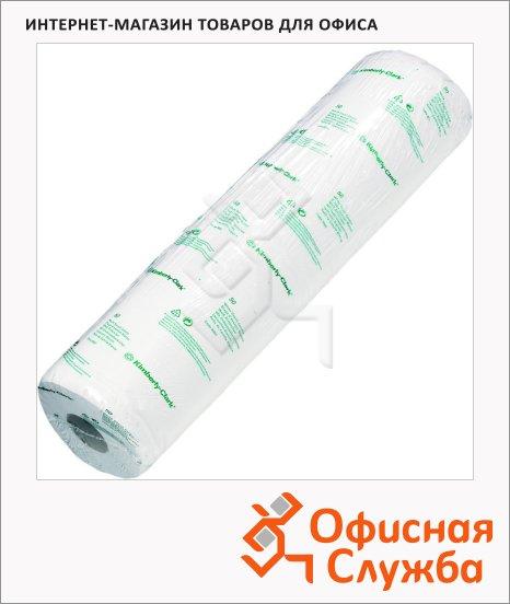 Бумажные простыни Kimberly-Clark Scott 6004, в рулоне, 135шт, 2 слоя, белые