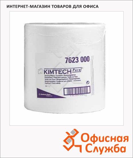Протирочный материал Kimberly-Clark Kimtech Pure 7623, в рулоне, 600шт, 1 слой, белые