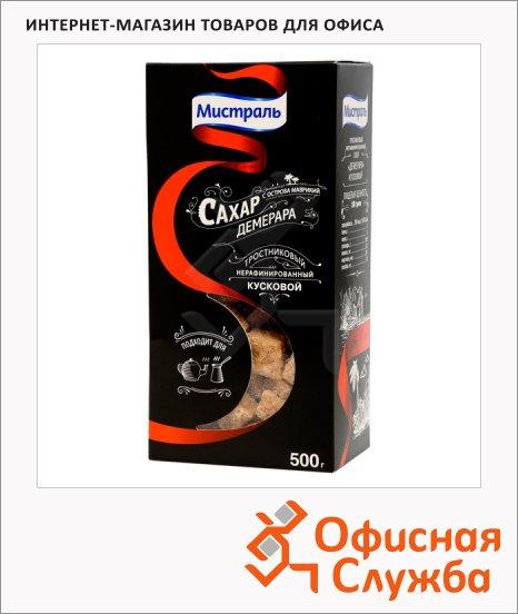 Сахар Мистраль Демерара кусковой, коричневый, 500г, нерафинированный
