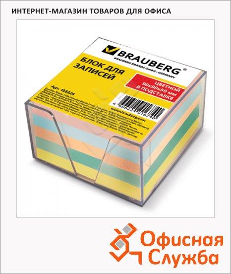 Блок для записей в подставке Brauberg прозрачный, 9x9x5см, непроклеенный