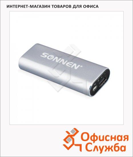 Внешний аккумулятор универсальный Sonnen PB 2600, 2600mАh, серебристый