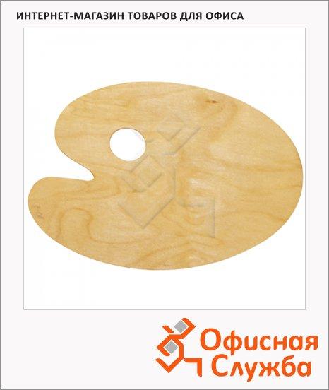 Палитра для рисования Невская Палитра овальная, 20х30см, дерево, DK18442