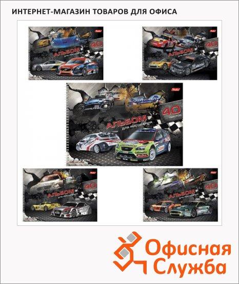 фото: Альбом для рисования Hatber Racing А4, 100 г/м2, 40 листов