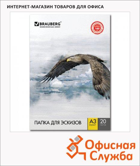 фото: Папка для рисования Brauberg А3 160г/м2, 20 листов