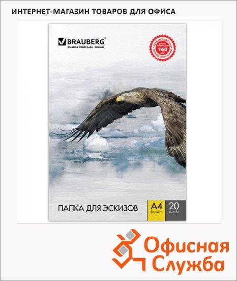 Папка для рисования Brauberg А4, 160г/м2, 20 листов