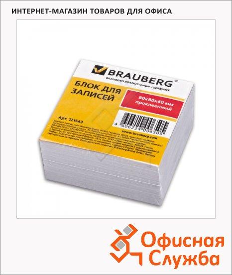 Блок для записей проклеенный Brauberg белый, 80х80мм