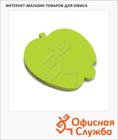 Блок для записей с клейким краем Brauberg Яблоко зеленый, неон, фигурный, 50 листов