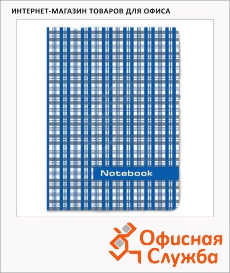 Блокнот Staff Шотландка, А6, 80 листов, в клетку, на сшивке, ламинированный картон