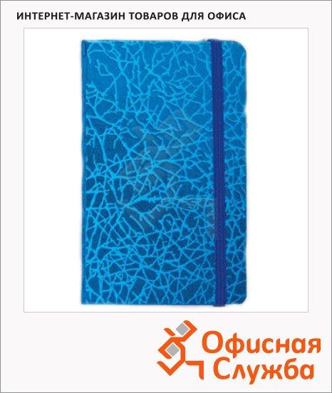 Блокнот Brauberg Irida, A7+, 64 листов, в линейку, на сшивке, кожа с металлическим блеском