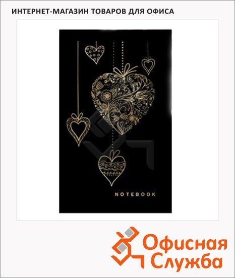 Блокнот Brauberg My Love, А5, 80 листов, в клетку, на сшивке, книжный переплет, тиснение фольгой