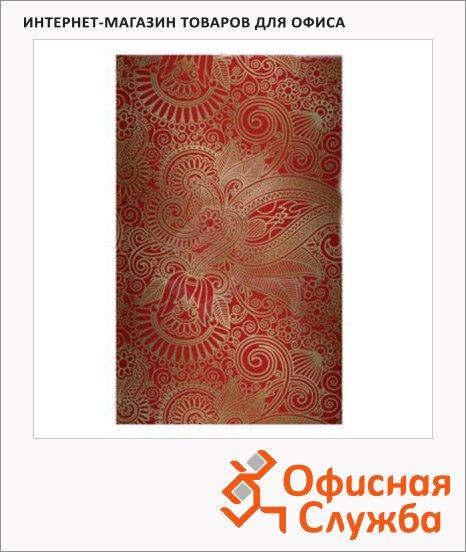 Блокнот Brauberg Paisley, А5, 80 листов, в клетку, на сшивке, книжный переплет, тиснение фольгой